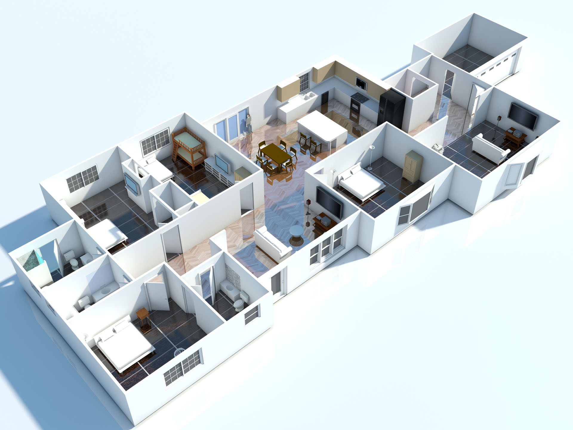 Interior 3d floor plan 3d floorplans visuals Hd home design 3d